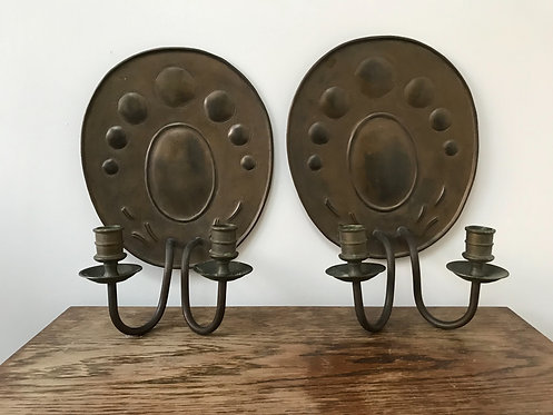 A Pair of Oval German Sconces