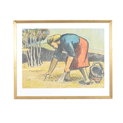 'Harvest' Lithograph, by Martin Emond