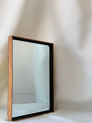 Beech Frame Bevelled Edge Mirror.