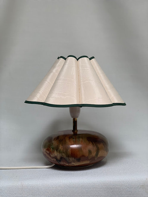 Cornish Vintage Lamorna Pottery Lamp with Shade