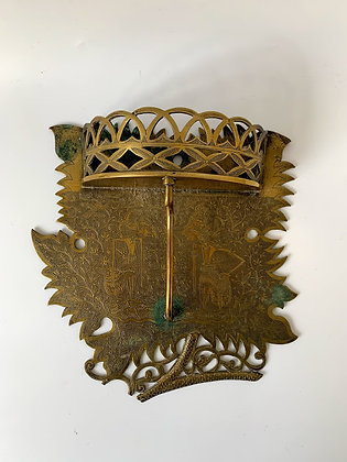 Large Brass Indian Sconce