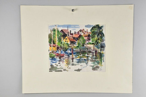 Watercolour signed. K. Peter Sendlbeck '80