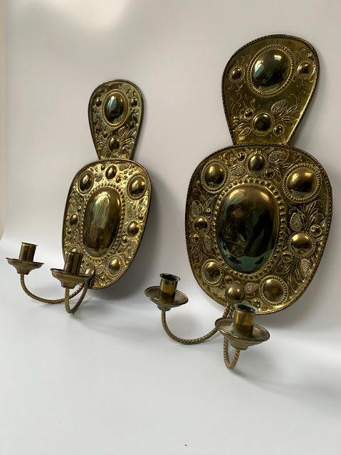 19th Century Brass Sconces, Swedish