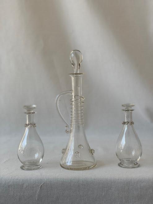 Vintage Glass Dressing Set