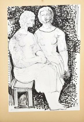 Drawing by Gustav Grund