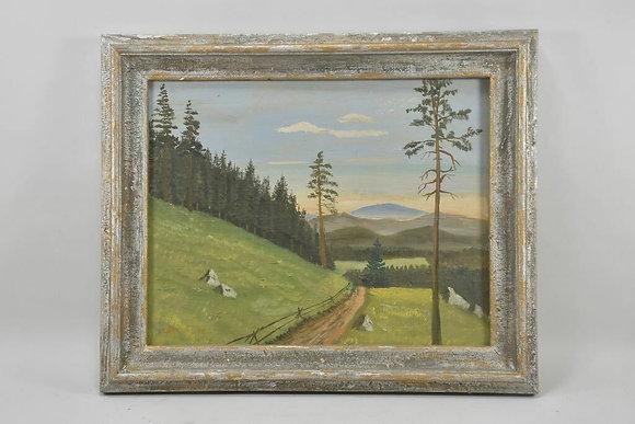 Mountain Landscape , signed  C.Bäuerle