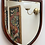 Thumbnail: Antique Shield Shaped Mirror Mahogany Frame, Bevelled Mirror glass.