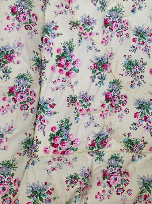 Vintage Colefax & Fowler beautiful floral single bed Feather Eiderdown