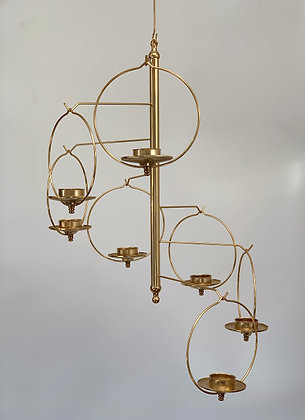 Beautiful Brass Chandelier, Swedish