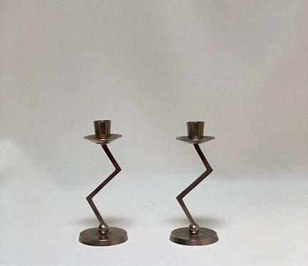 Metal Zig Zag Candlesticks