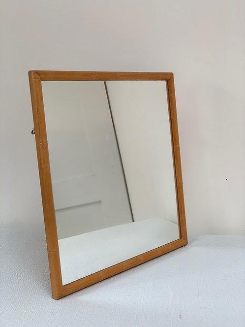 Vintage Square Bamboo Mirror