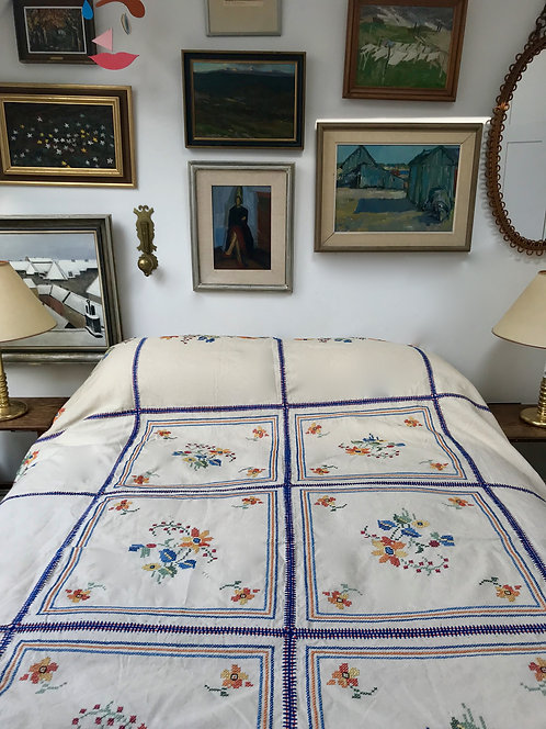 Antique Hand Stitched Bedspread