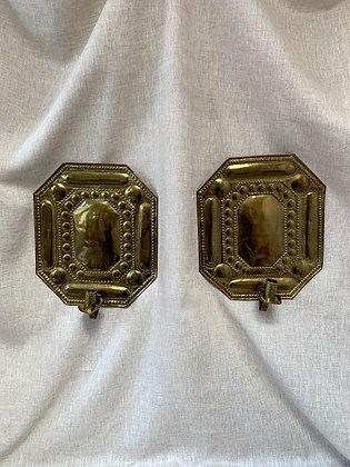 Pair of 19th Century Swedish Brass Sconces