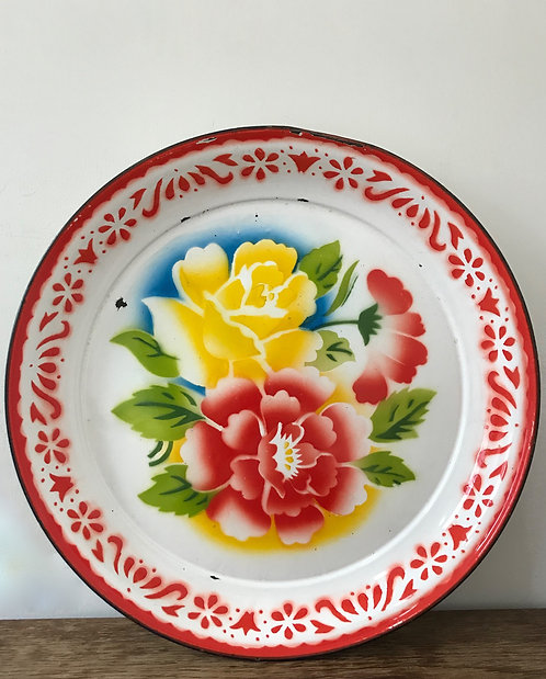 Large Floral Tray
