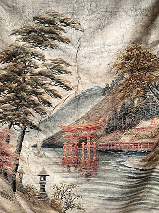 Antique Chinese Seascape Tapestry