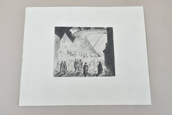 'Carousel' Etching by  H.Jaegerschmid