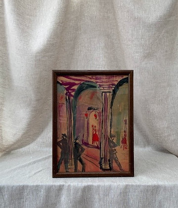 Framed Watercolour, Unknown Artist