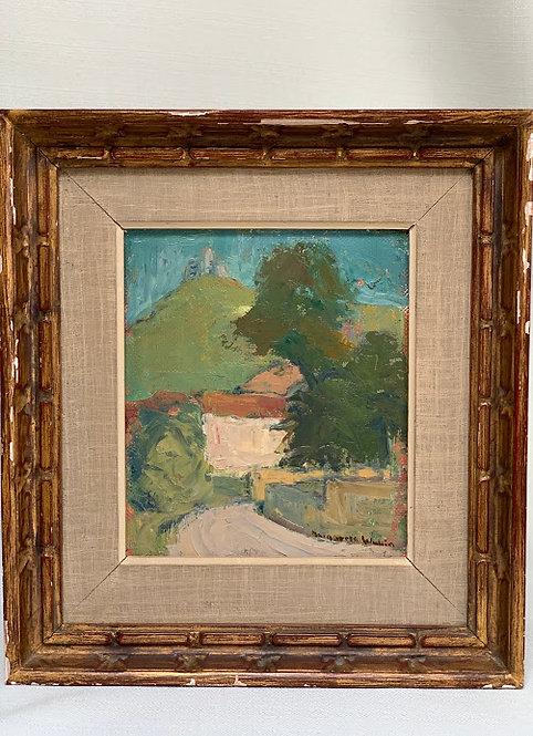 Framed Oil Painting, Mid Century, Swedish