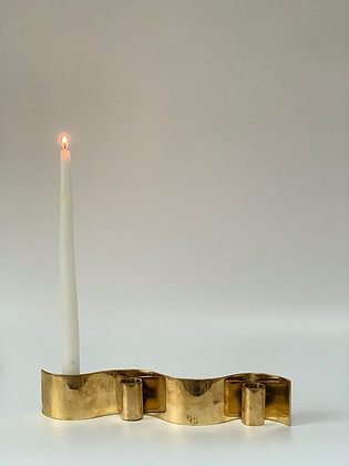 Handmade Brass Candlestick, Swedish for Åhléns