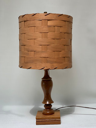 Wooden Lamp Base With Its Original Stylish Woven