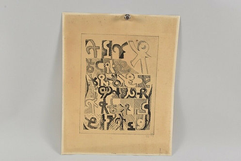 Etching Signed,  BA & dated '79