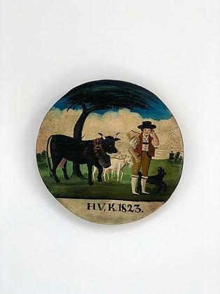 German Folk Painting, 1823