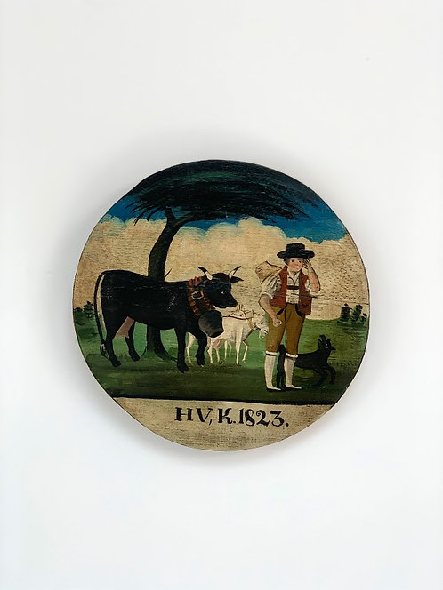 German Folk Painting, 1823