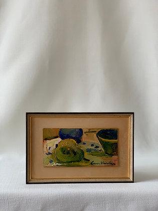 Small Framed Oil by Lars Herder