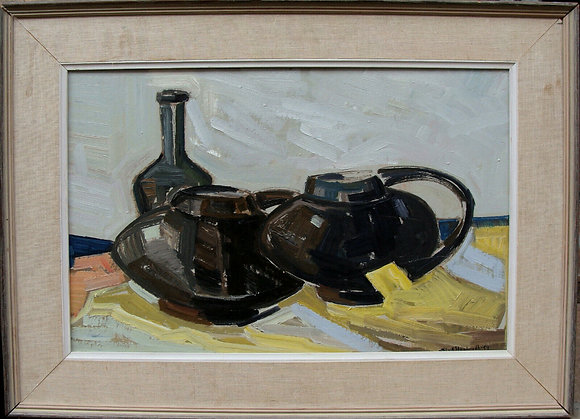 Framed Oil by Sture Haglundh, 1955