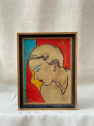 Framed Portrait, Signed Kiss F, German