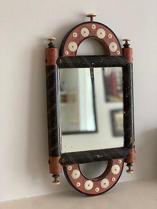 Antique Wooden Turkish Arabic Barbers Mirror