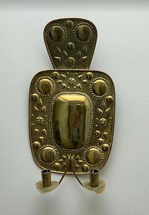 Swedish Brass Sconce, 19th Century