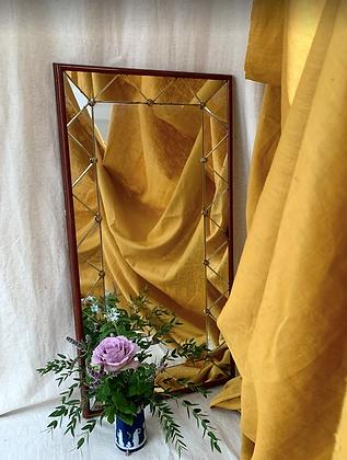 Mid Century Stained Oak Mirror