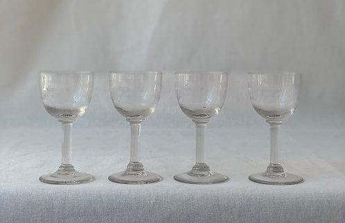 Set of Four Greek Key Sherry Glasses