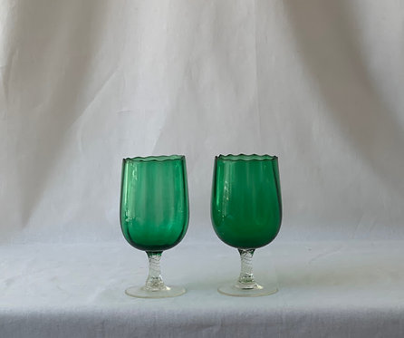 Pair o f Glass Vases