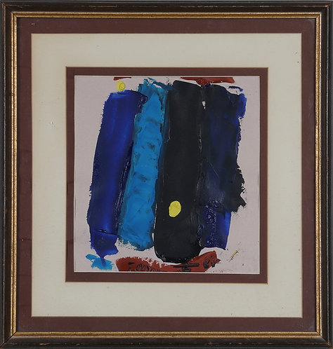 Framed Acrylic on Paper, Signed