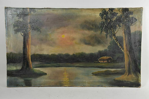 20th Century Oil Painting On A Canvas, German