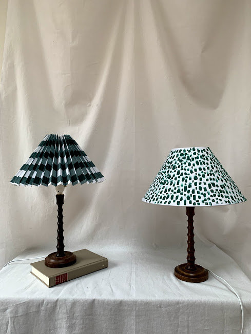 Pair of Early 20th Century Wooden Lamps