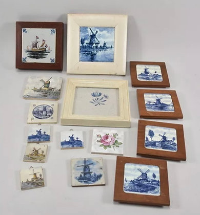 Collection of European Framed & Looped Tiles