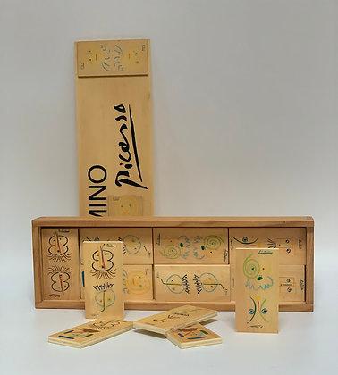 Limited Edition Picasso Wooden Domino Set. Gavilas de Fabulas sin Amor