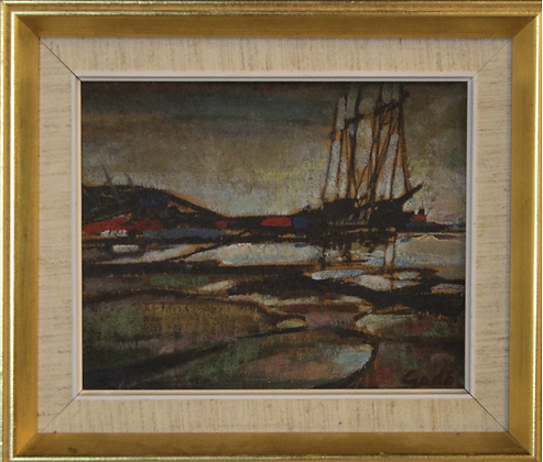 Oil On Panel by Bertil Gadö, 20th Century, Swedish