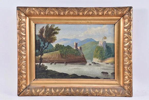19th Century Framed Oil Painting