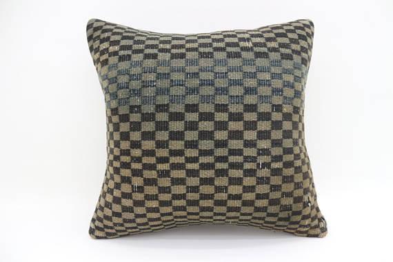 Checkered Kilim Cushion