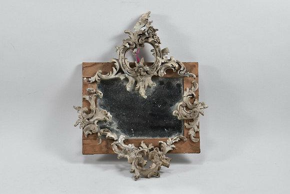 Unique Mirror, Framed With Rococo Elements