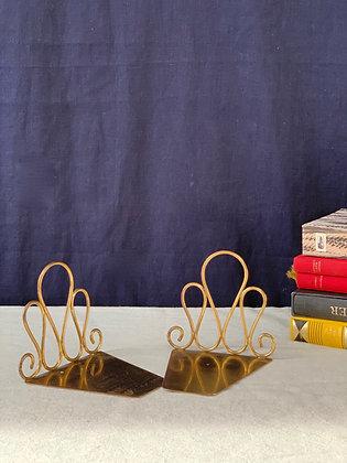 Vintage Brass Bookends