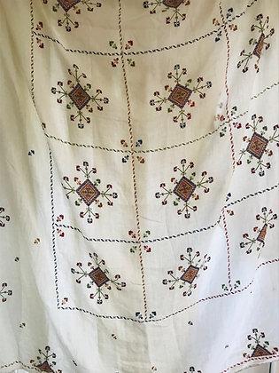 Vintage Embroidered Bedspread