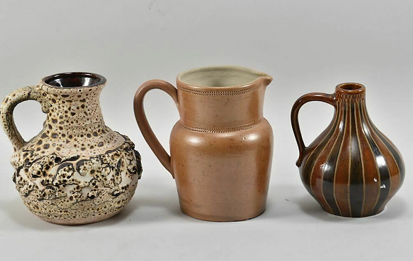 Set of Three Ceramic German Jugs