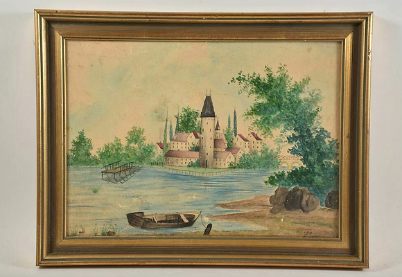 Framed Watercolour, Signed, Late 19th Century
