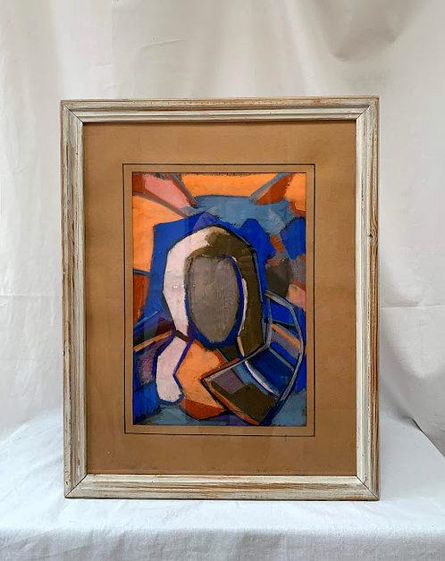 Framed Pastel, Signed