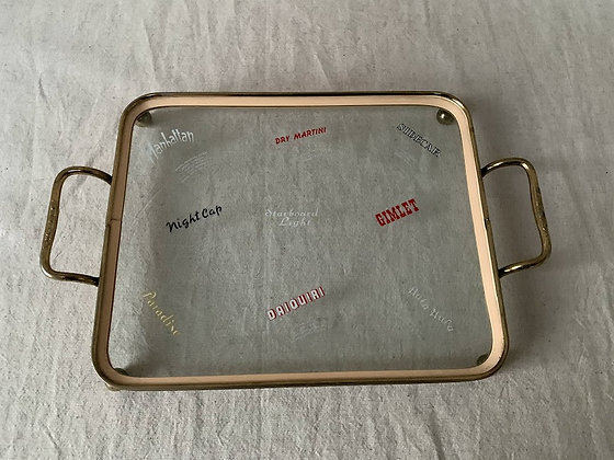 1950s Drink Tray - Salute!